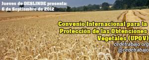 Convenio Internacional para la Protección de las Obtenciones Vegetales (UPOV)