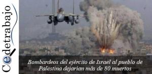 RECHAZAMOS ATAQUE DE ISRAEL A PALESTINA. ¡PALESTINA LIBRE Y SOBERANA!