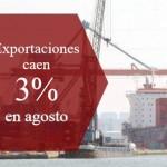 Exportaciones colombianas se mantienen en terreno negativo y caen 3% en agosto
