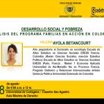 Conferencia: Desarrollo social y pobreza, análisis del programa Familias en Acción
