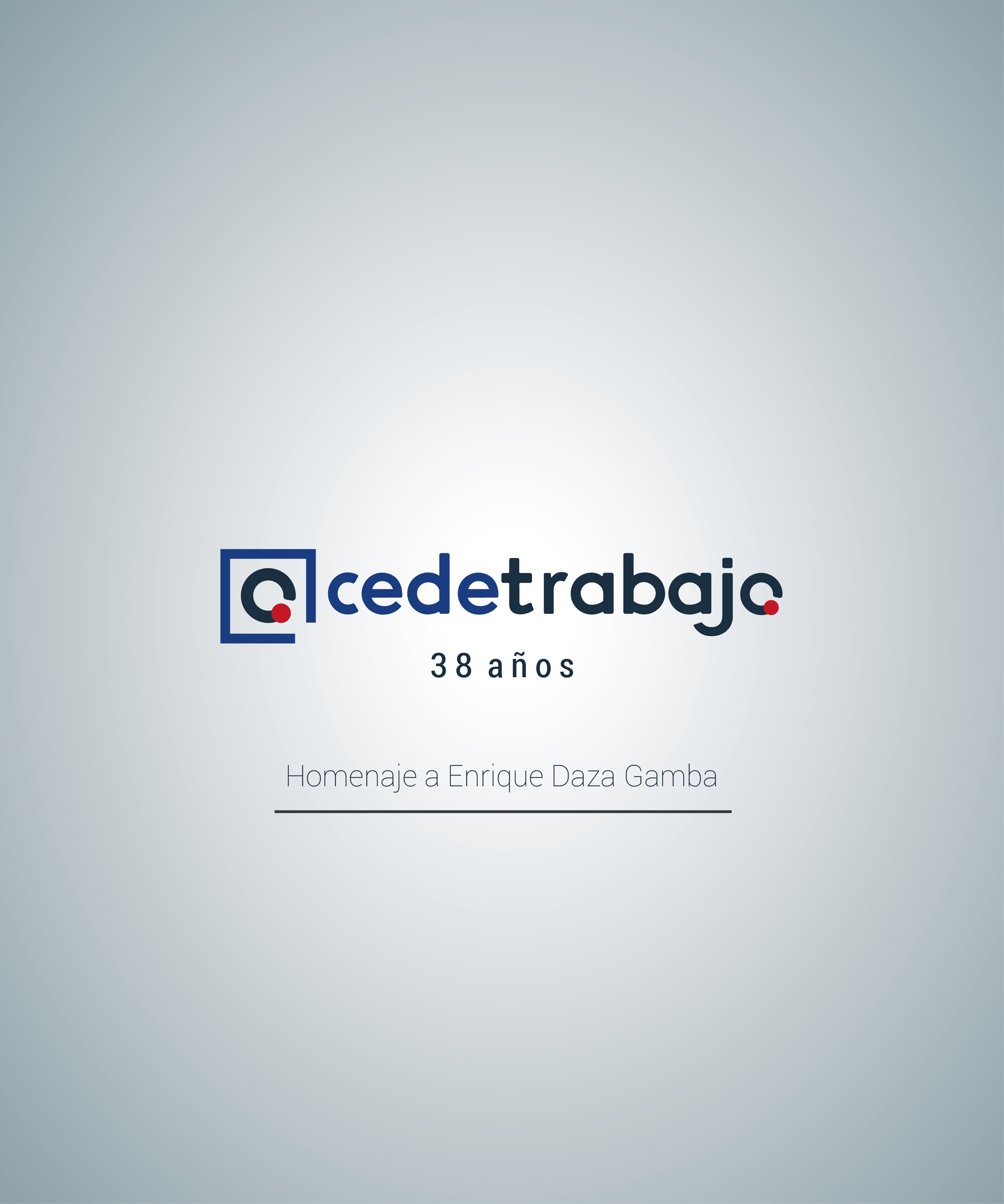 Homenaje a Enrique Daza, ex director de Cedetrabajo