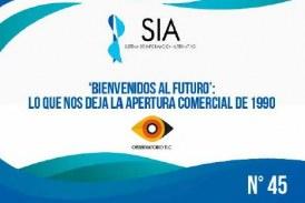 (Informe SIA #45) 'Bienvenidos al futuro': lo que nos deja la apertura comercial de 1990