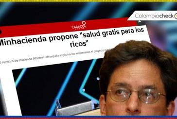 """(Colombiacheck) No es lo mismo Sisbén que """"salud gratis"""", como tituló Caracol Radio"""