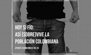 Hoy sí fío: así (sobre)vive la población colombiana. Apunte Económico No. 20
